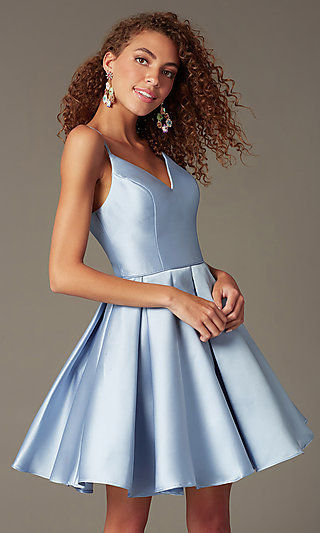 dcd1bc23a Semi-Formal A-Line Alyce Homecoming Dress in Satin