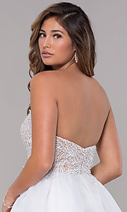 Image of embroidered-bodice short strapless homecoming dress. Style: TI-GL-1811P5100G Detail Image 2