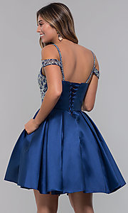 Image of short homecoming sweetheart party dress with corset. Style: HOW-DA-52430 Detail Image 5