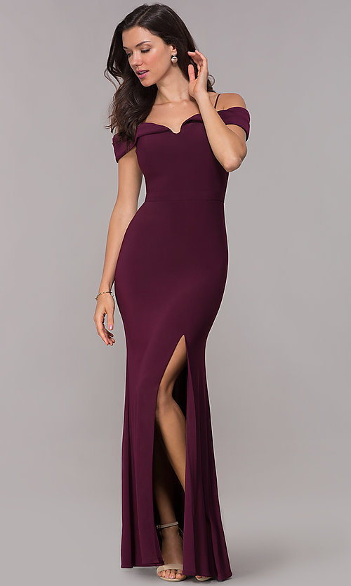 Wedding Guest Formal Off The Shoulder Long Dress