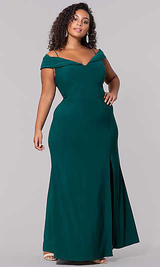 6c942edce0a Wine Red Long Plus-Size Wedding-Guest Dress