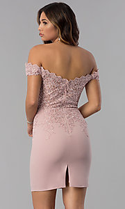Image of homecoming short off-the-shoulder sweetheart dress. Style: DQ-3032 Back Image