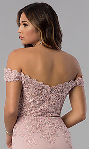 Image of homecoming short off-the-shoulder sweetheart dress. Style: DQ-3032 Detail Image 2