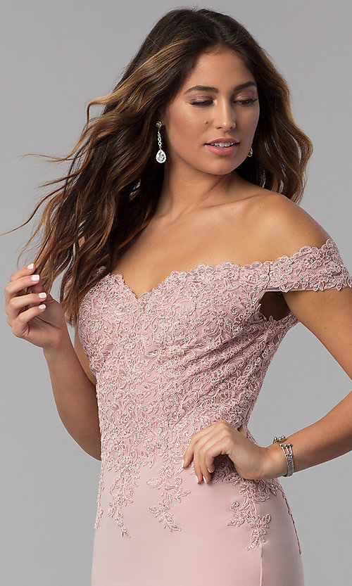 Image of homecoming short off-the-shoulder sweetheart dress. Style: DQ-3032 Detail Image 1