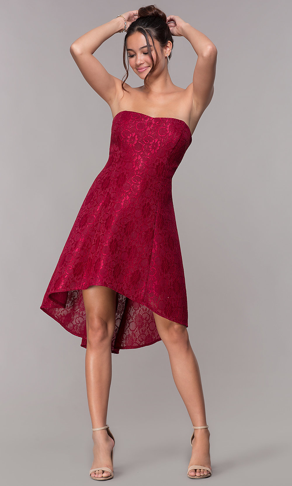 Wine Red Wedding Guest Dress Saddha
