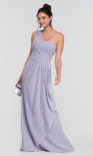 One-Shoulder Long Bridesmaid Dress by Kleinfeld