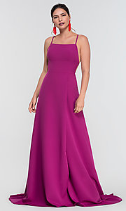 Image of Kleinfeld open-back long bridesmaid dress. Style: KL-200129 Detail Image 3