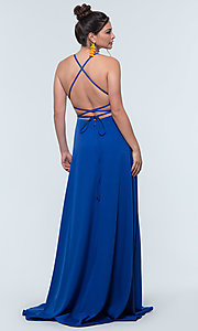 Image of Kleinfeld open-back long bridesmaid dress. Style: KL-200129 Detail Image 2