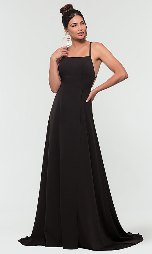 Image of Kleinfeld open-back long bridesmaid dress. Style: KL-200129 Detail Image 5