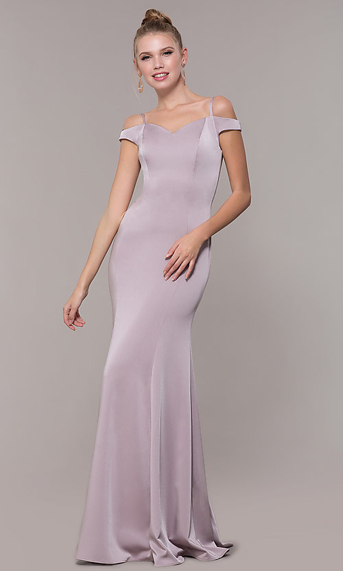 Image of long sweetheart princess-cut formal dress. Style: CD-2017 Front Image