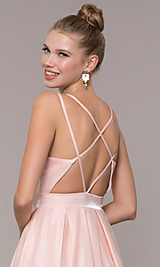 Image of satin ballgown-style long formal prom dress. Style: CD-2062 Detail Image 2