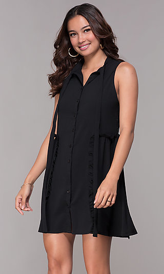 Casual Party Short LBD with Lace Back