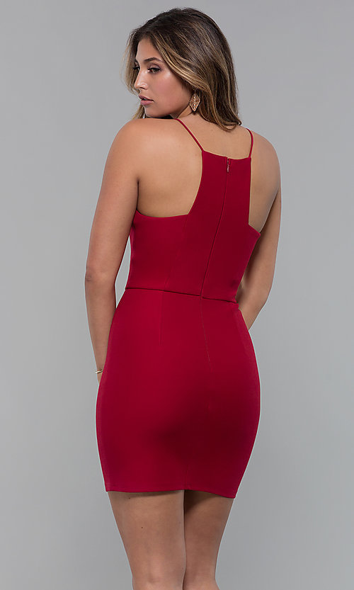 Red Short Bodycon Holiday Cocktail Party Dress