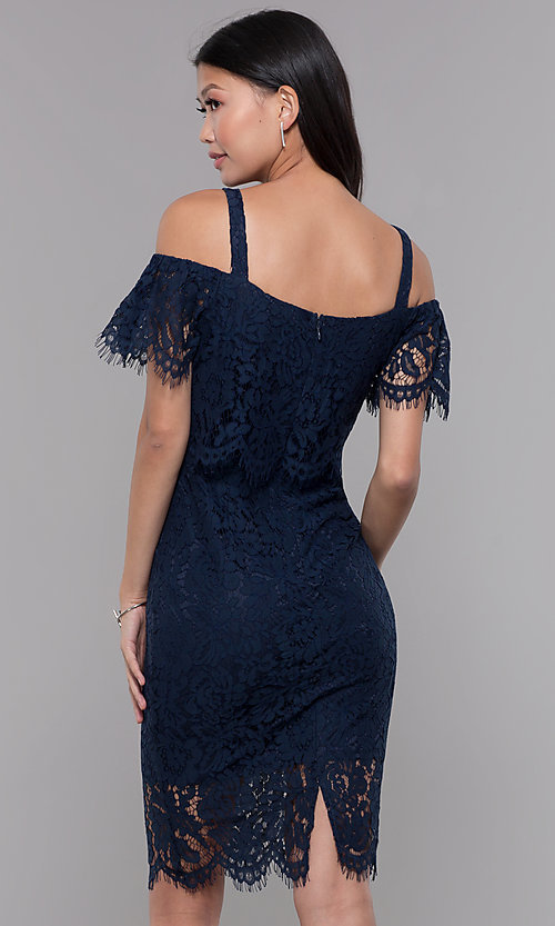 Lace Popover Knee Length Wedding Guest Dress,Wedding Latest Party Wear Dresses For Ladies
