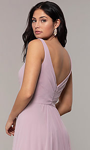 Image of long Faviana classic v-neck formal gown. Style: FA-S10177 Detail Image 2