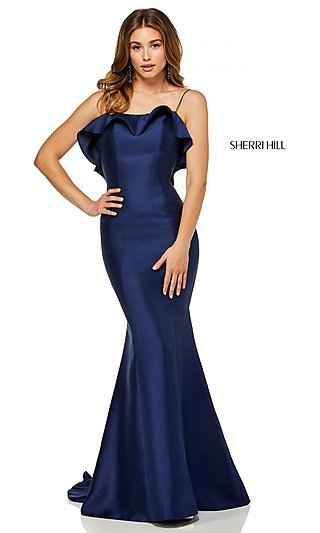 Sherri Hill Long Ruffled Prom Dress