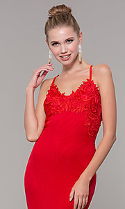 Image of long open-back mermaid formal dress by Zoey Grey. Style: ZG-31333 Detail Image 1