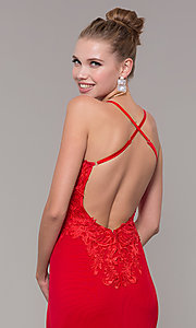Image of long open-back mermaid formal dress by Zoey Grey. Style: ZG-31333 Detail Image 2