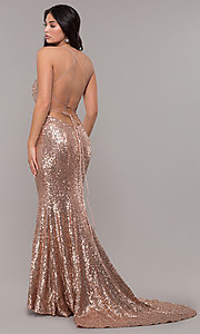 Image of Zoey Grey sequin formal corset prom dress. Style: ZG-31435 Detail Image 4