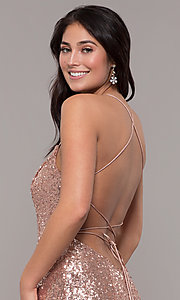 Image of Zoey Grey sequin formal corset prom dress. Style: ZG-31435 Detail Image 6