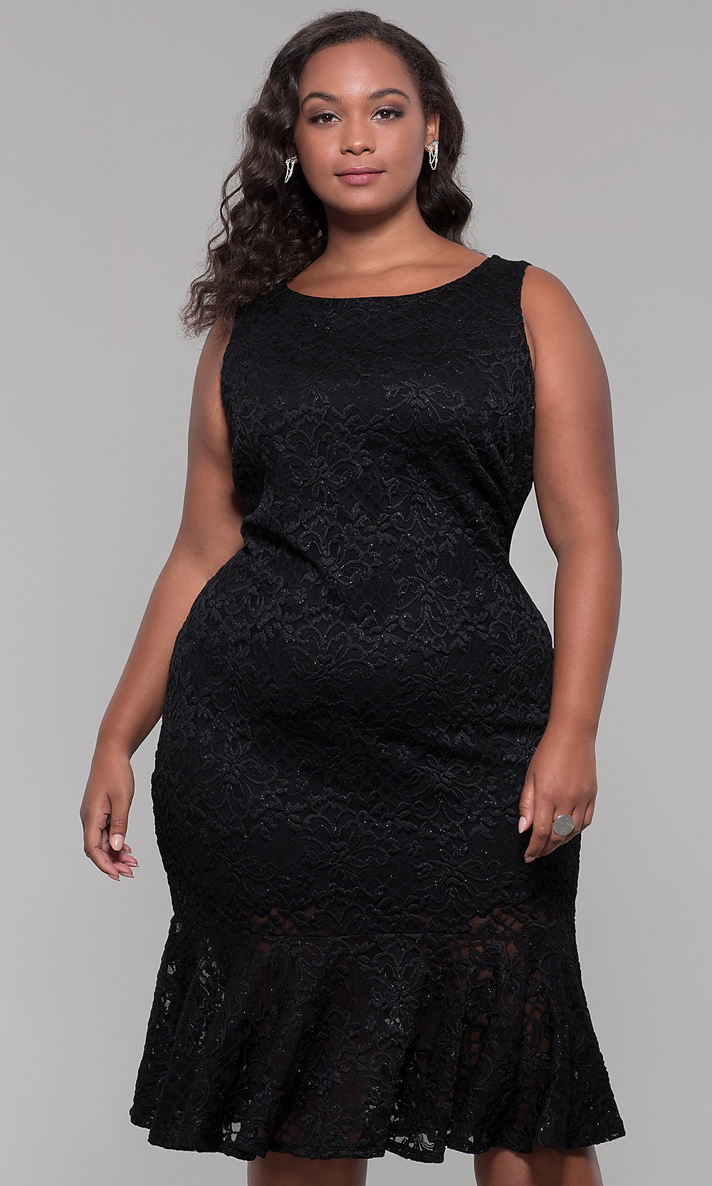 Bodycon wedding guest dress for plus size