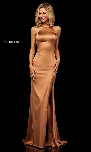 Long Sexy Formal Evening Dress with Back Cut Out