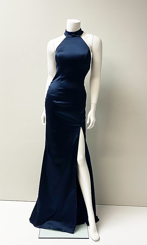 Image of long sexy formal evening dress with back cut out. Style: SH-52795 Front Image
