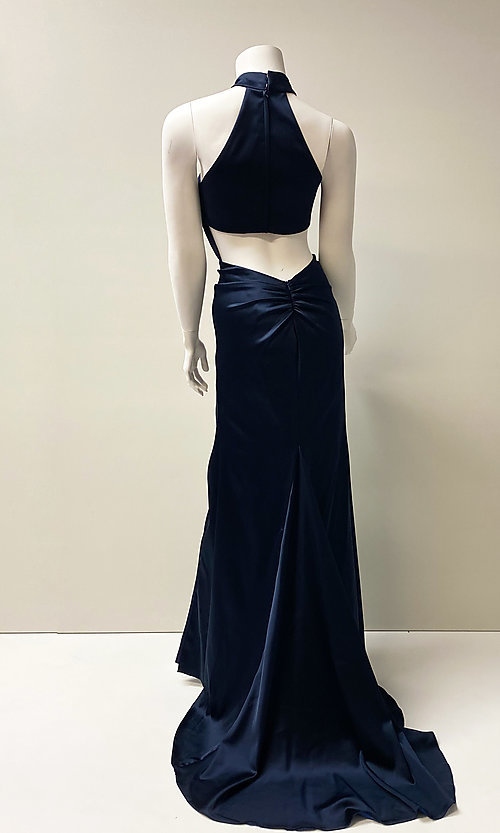 Image of long sexy formal evening dress with back cut out. Style: SH-52795 Back Image