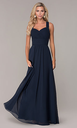 Long Prom Dress with Ruched Sweetheart Bodice