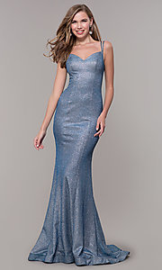 Image of sweetheart long sparkly glitter prom dress. Style: FB-GL2578 Detail Image 7