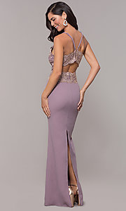 Image of sweetheart embroidered-bodice long prom dress. Style: SOI-M18076 Detail Image 5