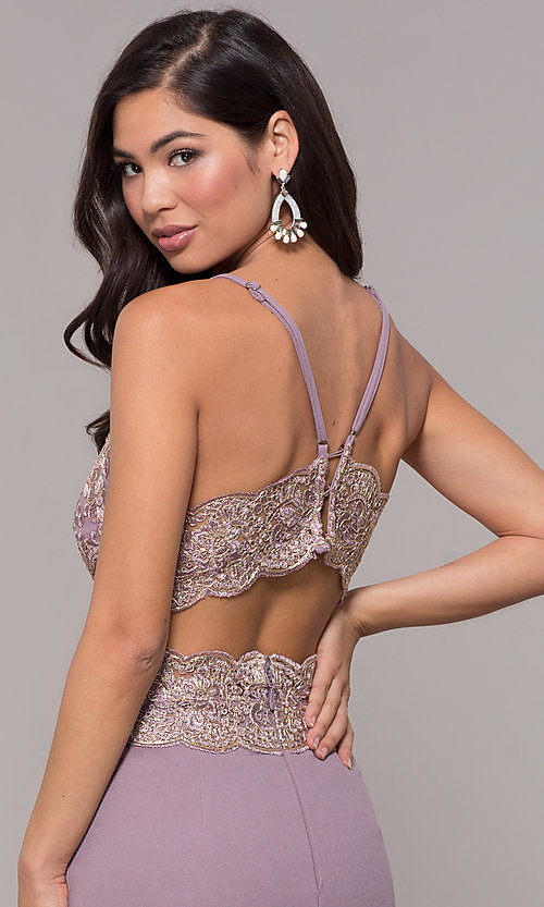 Image of sweetheart embroidered-bodice long prom dress. Style: SOI-M18076 Detail Image 7