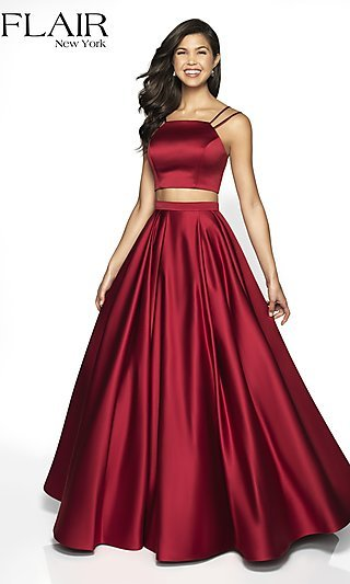Two-Piece A-Line Formal Gown by FLAIR