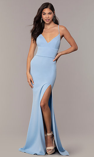 JVNX by Jovani Long Formal Dress with Corset Back