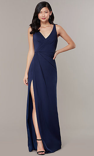 V-Neck Mock-Wrap Long JVNX by Jovani Formal Dress
