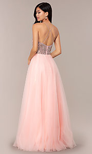 Image of long JVNX by Jovani prom dress with rhinestones. Style: JO-JVNX67060 Back Image