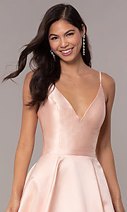 Image of corset v-neck long JVNX by Jovani Prom Dress. Style: JO-JVNX66673 Detail Image 1