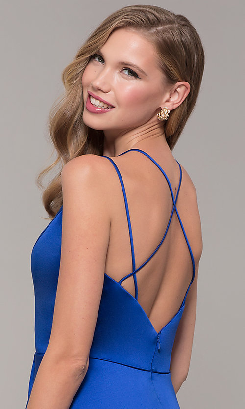 Image of mock-wrap-skirt long prom dress from JVN by Jovani. Style: JO-JVN-JVN67098 Detail Image 7