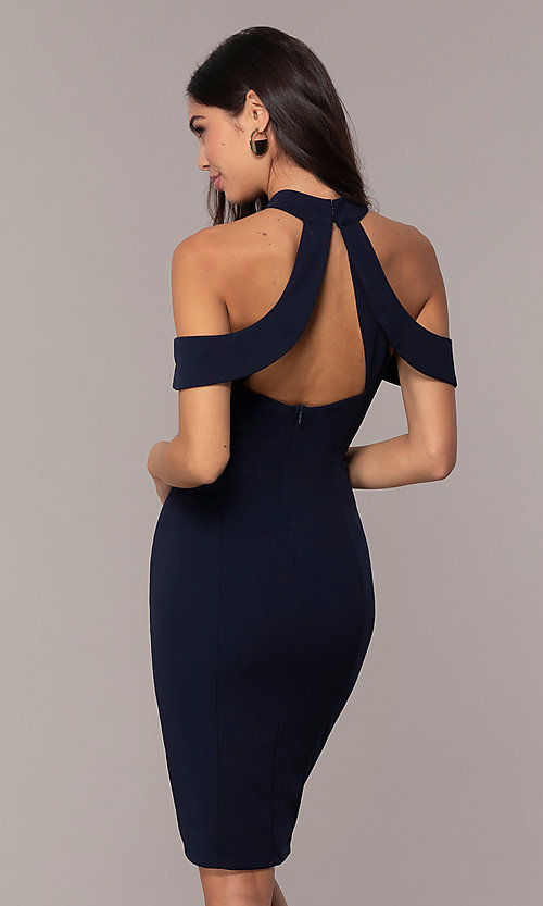 Image of cold-shoulder semi-formal dress by Simply. Style: MCR-SD-2661 Detail Image 5
