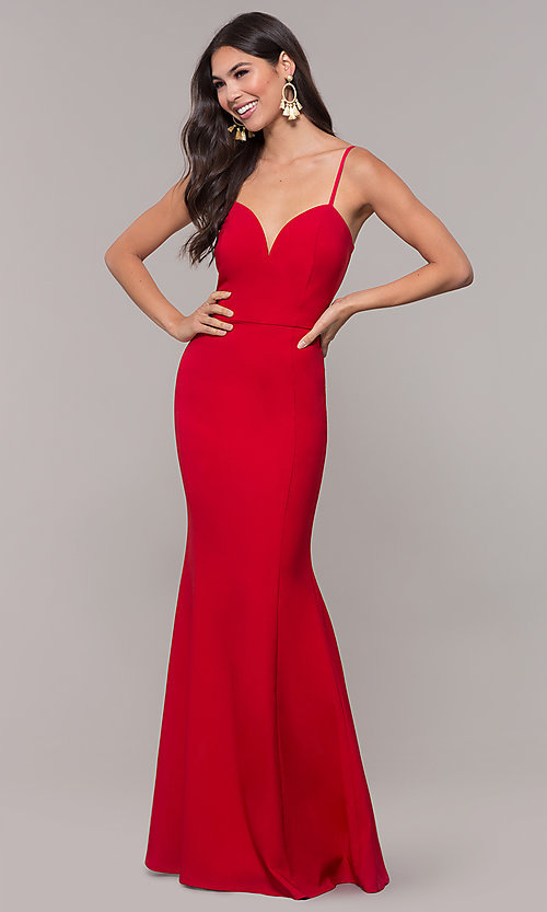Image of sweetheart long mermaid prom dress by Simply. Style: MCR-SD-2652 Detail Image 1