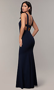Image of v-neck long formal mermaid dress by Simply. Style: MCR-SD-2650 Front Image