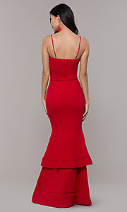 Image of red long formal prom dress by Simply. Style: MCR-SD-3046 Back Image