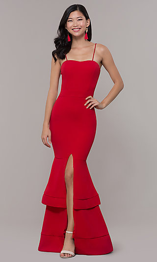 Red Long Formal Prom Dress by Simply