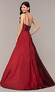 Image of long Faviana a-line formal gown with pockets. Style: FA-S10249 Detail Image 5