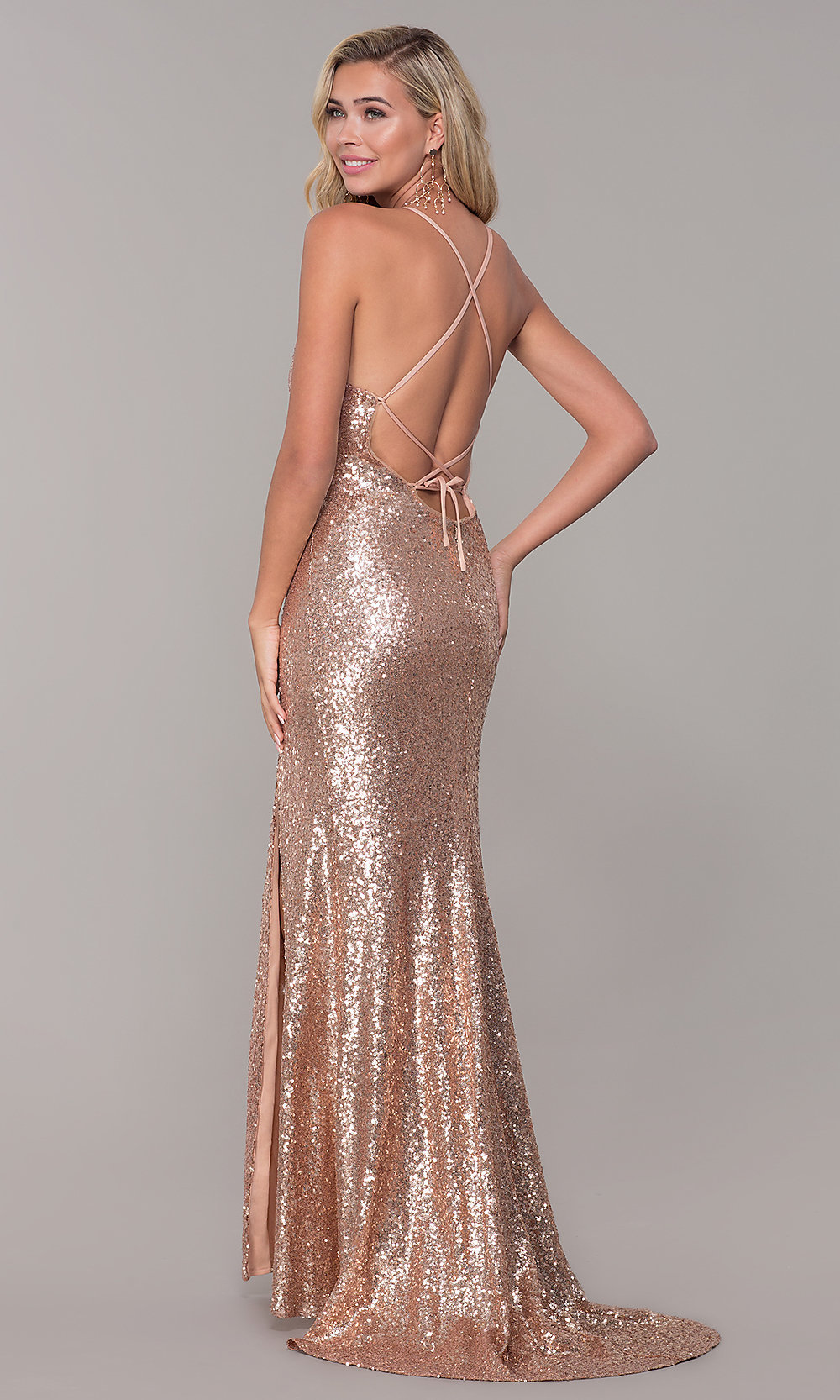 30a545fd Sparkly Long Formal Sequin Prom Dress with Corset