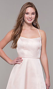 Image of Dave and Johnny long prom dress with corset back. Style: DJ-A7956 Detail Image 1
