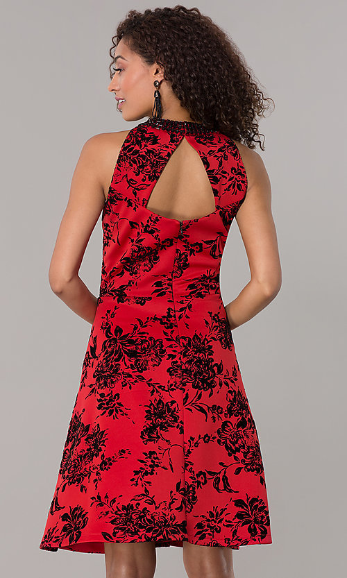 Black Red Holiday Dresses