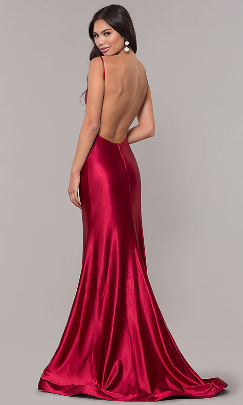 Image of empire-waist long vintage-style formal dress. Style: NA-C227 Detail Image 5
