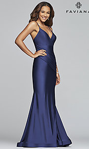 Image of long classic Faviana mermaid formal evening dress. Style: FA-S10212 Front Image