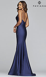 Image of long classic Faviana mermaid formal evening dress. Style: FA-S10212 Back Image